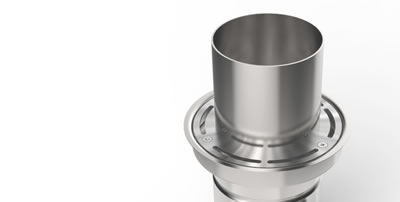 Single pipe inlet 100mm diameter